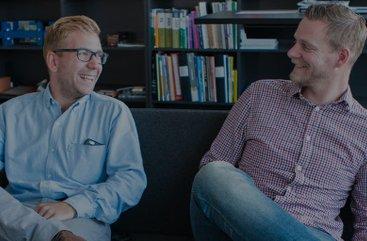 Prefabsystems nya hjärnkrafter Erik Sandell och Michael Sundsgård.