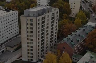 Prefabricerat 14 våningar bostadshus i Stockholms innerstad